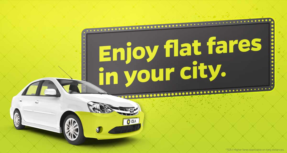 Travel In Ahmedabad At Flat Fares With Ola Micro Mini
